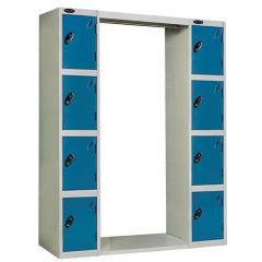Probe Archway Lockers - 8 Compartments - Type A - Blue Doors