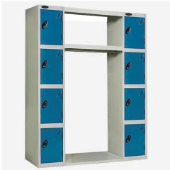 Probe Archway Lockers - 8 Compartments - Type B - Blue Doors