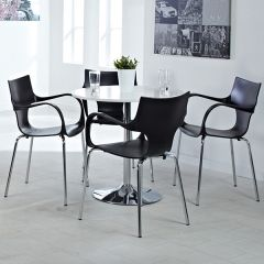 Fairford Trumpet Base Table and Chairs Set