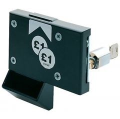 This is the Coin Return version of the replacement locking mechanism.