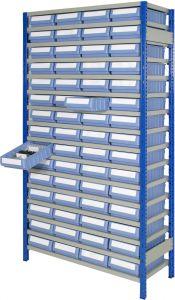 Boltless shelving Kit G with shelf trays
