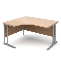 Chicago Cantilever Ergo Desk - W1400 - Beech