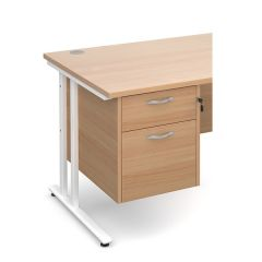 Chicago 2 Drawer Fixed Pedestal - Beech