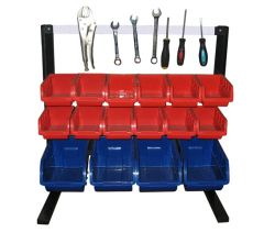 Bin Rack with Magnetic Strip