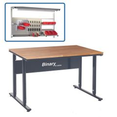 Binary Height Settable Workbench- Beech Top