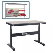 Binary Electric Height Adjustable Workbench- Laminate Top