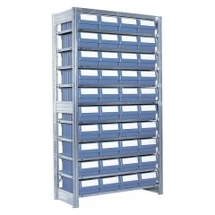 Boltless Shelving with 40 Bins