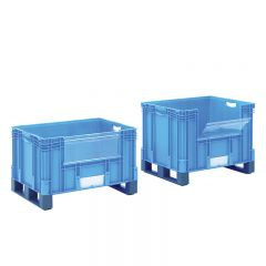 Pick Opening Euro Containers with Fork Entry Shoes