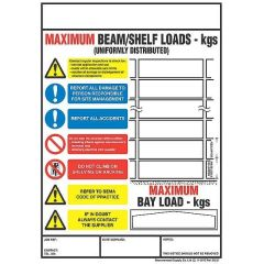 Shelving and Racking Safety Sign