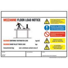 Mezzannine Floor Safety Sign
