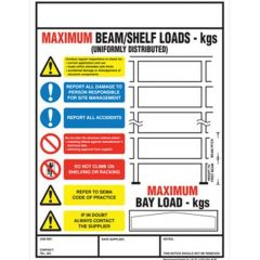 Pallet Racking and Shelving Safety Sign