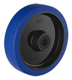 Blue Rubber Tyre with Nylon Centre