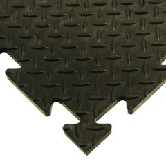 100% Recycled Heavy Duty Checker Plate PVC Tiles