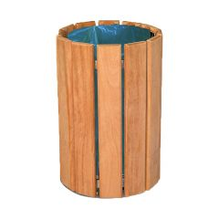 Circular Bin - Light Oak