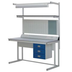 CL Cantilever Workbenches, MFC Top - 250kg UDL with acssesories