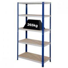 Clicka 265 Blue Grey Shelving - 265kg UDL