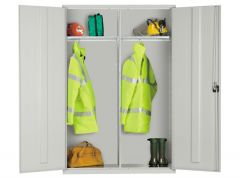 Extra Wide Cupboards with 2 Adjustable Shelves and 2 Garment Rails