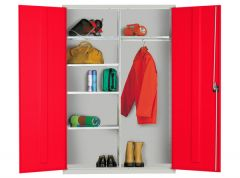 Extra Wide Cupboards with 5 Adjustable Shelves and Garment Rail
