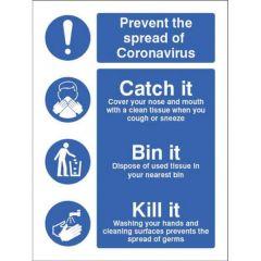 Coronavirus - Catch it Kill It Sign