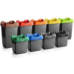 Open Top Recycling Bin - Dark Grey