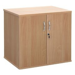 Executive Desk High Cupboard - Beech
