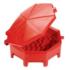 PIG Poly Drum Funnel with Hinged Lid