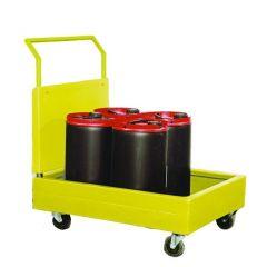 Drum Dolley - 4castors - 900x700x300mm - vertical stor