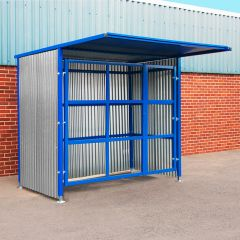 Double Gate Open Front Drum Storage Shelter