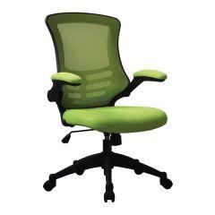Eclipse Swivel Chair - Black Frame - Green