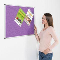 Eco-Colour Aluminium Framed Noticeboards - Purple