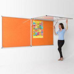 Tamperproof Top Hinged Lockable Noticeboards - Orange