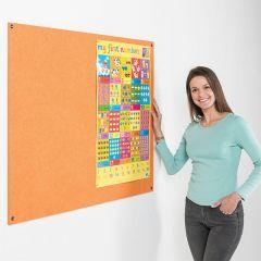 Eco-Colour Frameless Noticeboards - Orange