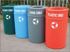 Economy Outdoor Waste Bins - All Designs
