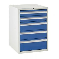 600 Euroslide Cabinets - 5 Drawers (2x 100mm Drawers).