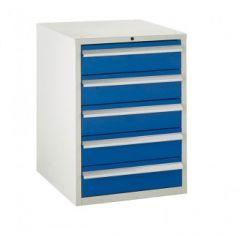 600 Euroslide Cabinets - 5 Drawers.