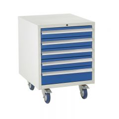 Under Bench Euroslide Cabinet - 5 Drawers.