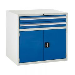 900 Euroslide Cabinets - 2 Drawer & Double Cupboard.
