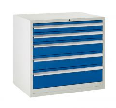 900 Euroslide Cabinets - 5 Drawers (2x 100mm drawers).