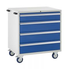 900 Euroslide Mobile Cabinets - 4 Drawers.