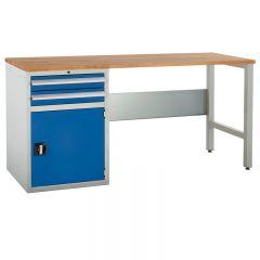 Euroslide Pedestal Bench - 1 Cupboard & 1 Drawer