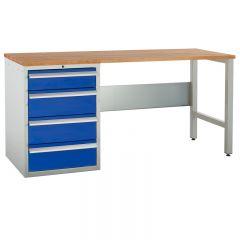 Euroslide Pedestal Bench - 4 Drawers