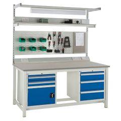 Euroslide Laminate Worktop Super Workbenches with accessories