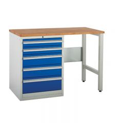 Euroslide SystemTek Workbench, 5 drawers, 2 legs and a worktop of your choice.
