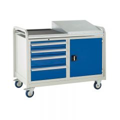 Euroslide Trolley with 4 drawers and 1 cupboard.