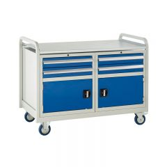 Euroslide Trolley with 4 drawers and a double cupboard.