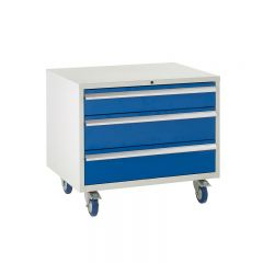 Under Bench Euroslide Cabinet - 3 Drawers.