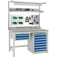 Euroslide Workbench with Laminate Worktop - accessories