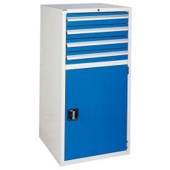 600 XL Euroslide 4 Drawer Cabinet - 4 x 100mm - Blue