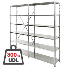 Expo 3 Galvanised Shelving Bays 300kg UDL