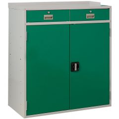 Flat Top Double Drawer Workstation - Green